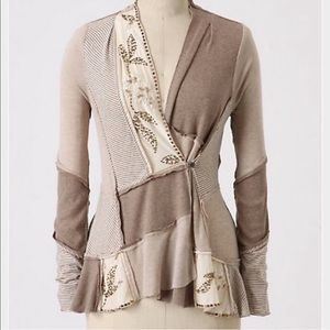 Anthropologie Tiny Acres of Land Cardigan Sweater